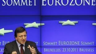 José Manuel Barroso, presidente da Comissão Européia, durante encontro em Bruxelas, na Bélgica.