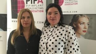 Silene Parada y Berta Gómez, demandantes contra la marca PIP de implantes mamarios.