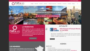 La page d'accueil du site de la FAR&MG, la Fédération des acteurs de la relocation et de la mobilité géographique.
