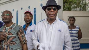 L'ex-président béninois Boni Yayi, ici devant sa résidence dans le quartier de Cadjehoun, à Cotonou, le 19 avril 2019 (image d'illustration).