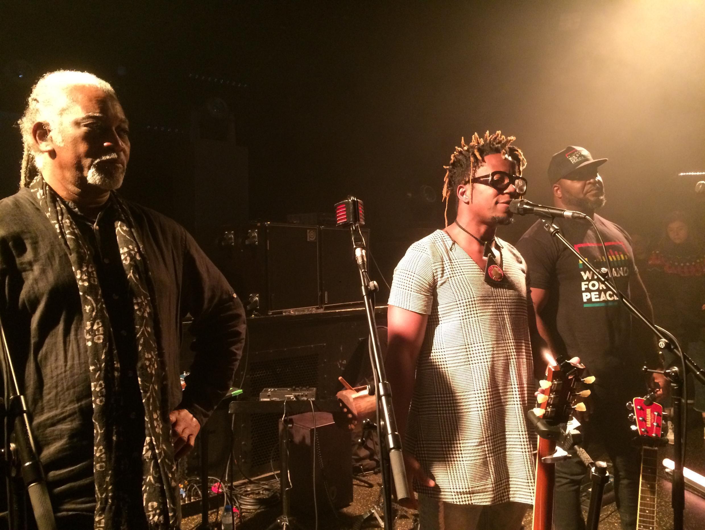 Binda Ngazolo, Blick Bassy and Krotal at the Africolor festival, 1st December 2018.