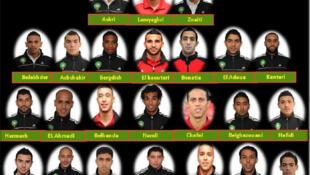Les joueurs marocains présélectionnés.