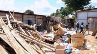 Le siège d'Action contre la faim, pillé lors des violences en octobre dernier.