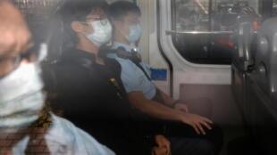 钟翰林抵达西九龙裁判法院