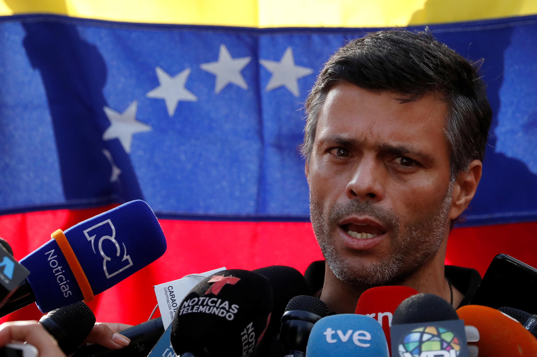 Leopoldo López, le 2 mai 2019 à Caracas (photo d'illustration).