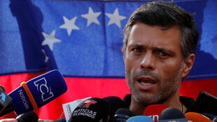 Leopoldo López, le 2 mai 2019 à Caracas (photo d'illustration).