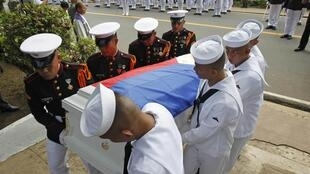 Tang lễ một thủy quân lục chiến bị Abu Sayyaf sát hại, ngày 30/10/2012.