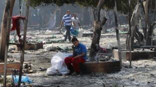 Les condamnés avaient été arrêtés, avec 664 autres personnes, le 14 août 2013 lors de la sanglante dispersion du sit-in de la place de Rabaa (ici le 15 août 2013).