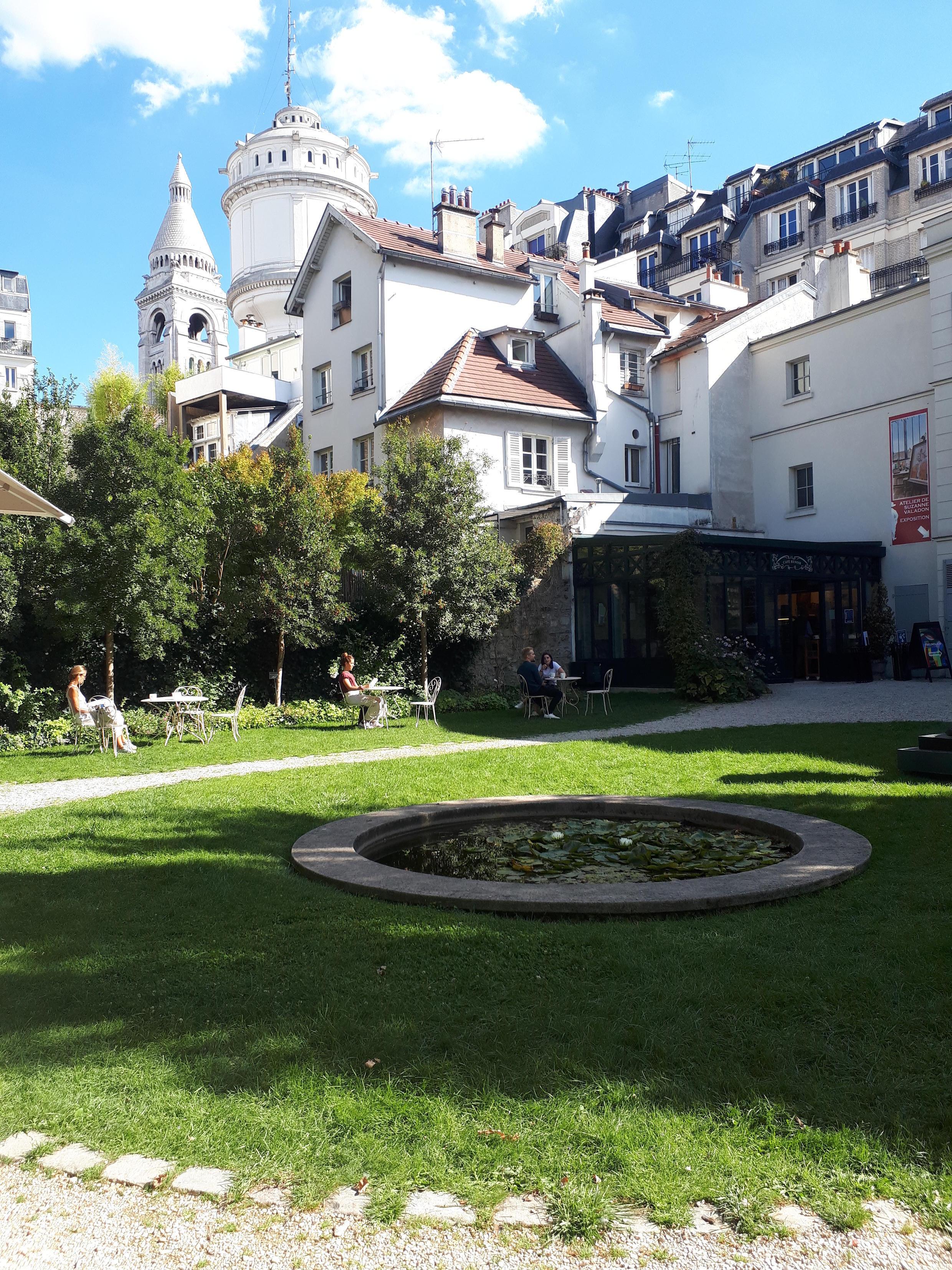 Los jardines Renoir en el Museo de Montmartre.
