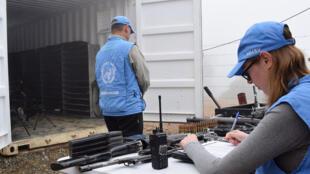 Observadores de la Misión de la ONU en Colombia.