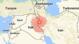 دامنۀ زلزلۀ کرمانشاه بخشی از عراق را نیز در بر گرفت