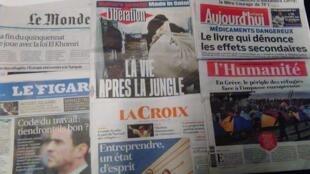 Capas diários franceses 07/03/16