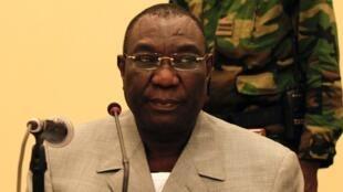 Michel Djotodia, président intérimaire de RCA, le 24 décembre 2013 à Bangui.
