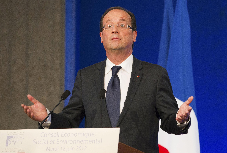 O presidente francês François Hollande vai ao Brasil durante a Rio+20.