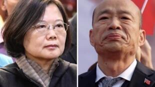 លោកស្រី Tsai Ing-wen និងលោក Han Kuo-yu