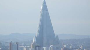 朝鮮平壤遠眺