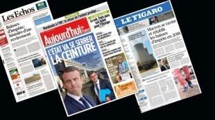 O pacote fiscal do presidente Emmanuel Macron é destaque na imprensa francesa desta terça-feira (11).