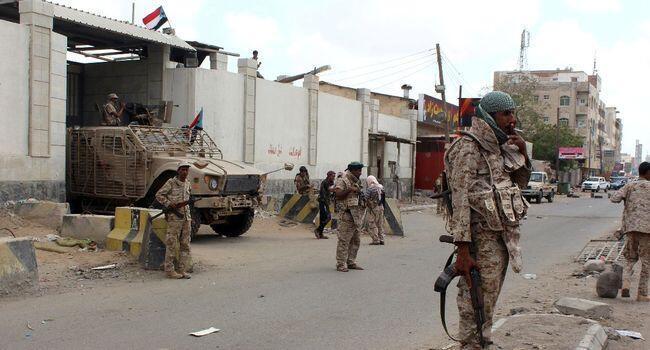 Vikosi vya serikali ya Yemen, Aden.