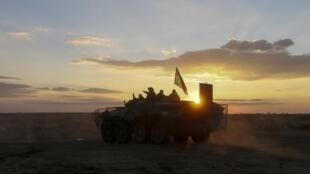 Бронемашина украинских военных на востоке Украины, 13 сентября 2014 г.