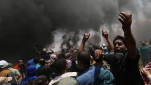 تظاهرکنندگان فلسطینی در نوار غزه
