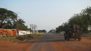 Sur la route entre Bouar et Bossembélé en RCA.