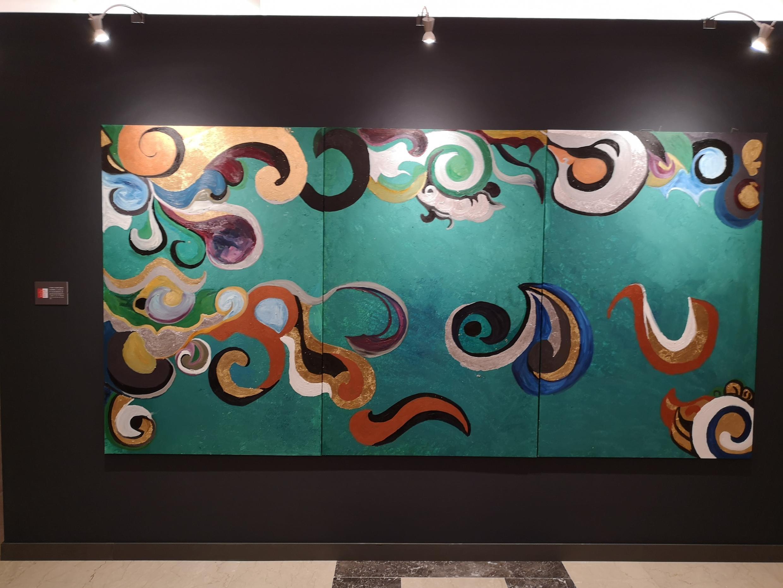 """""""Cabelos de Filomena"""", uma das obras da exposição com os artistas da comunidade Santo Egídio de Roma."""