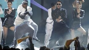 South Korean singer Psy performs Gangnam Style