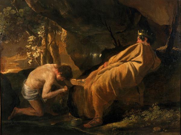 Никола Пуссен. Король Мидас у источника реки Пактол. 58 x 82 см. XVII в.