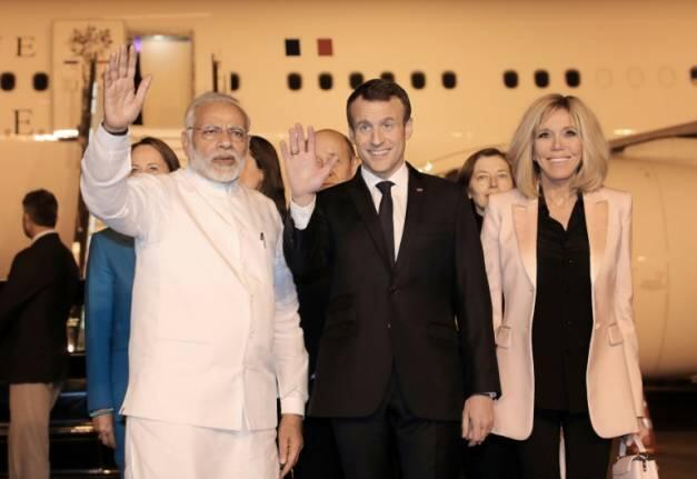 2018年3月9日法国总统马克龙到访印度新德里