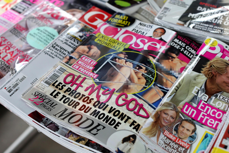Revista Closer é condenada por publicar fotos não autorizadas pela princesa Kate Middleton.