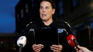 Deputy Chief Constable Pippa Mills of Essex Police makes a statement on October 25 2019 outside Grays police station, after bodies were discovered in a lorry container in Grays, Essex, UK.