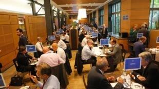Lors du speed dating organisé pour la Semaine des ambassadeurs, le 28 août à Paris.