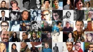 Quelques-uns des visages des victimes des attentats du 13 novembre 2015.