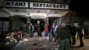 L'un des lieux de Kameshli ciblés par la série d'attentats du 30 décembre 2015.