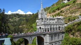 Le sanctuaire de Las Lajas, près d'Ipiales, dans le sud de la Colombie.