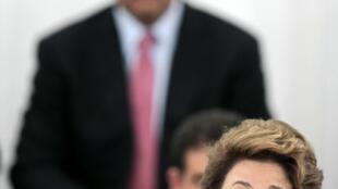 A presidenta Dilma Rousseff discursa durante abertura do Pavilhão Brasil da conferência Rio+20, nesta quarta-feira, no Rio de Janeiro.
