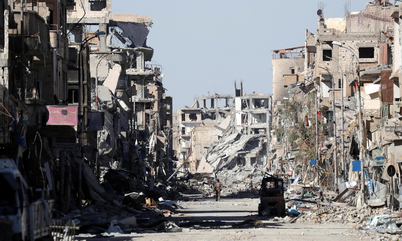 Thành phố Raqqa, Syria sau khi chiếm lại từ tay quân thánh chiến. Ảnh ngày 18/10/2017.