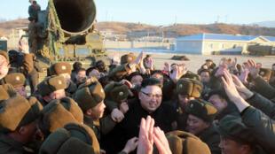 Líder norte-coreano Kim Jong Un. 13 de Fevereiro de 2017.