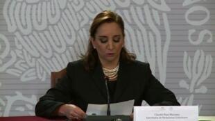 Claudia Ruiz Massieu, waziri wa mambo ya nje wa Mexico, akilaani shambulizi la jeshila Misri dhidi ya watalii kutoka Mexico.