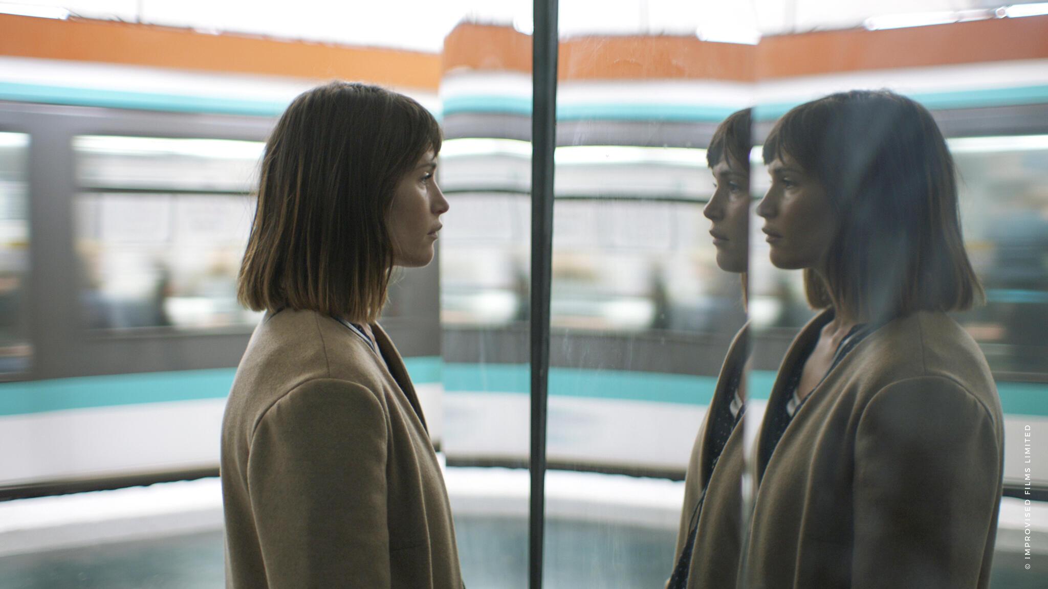 Gemma Arterton plays Tara in The Escape (Une Femme Heureuse), 2018.