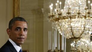 Barack Obama,presidente americano em foto do dia 07 de maio de 2013, em Washington.