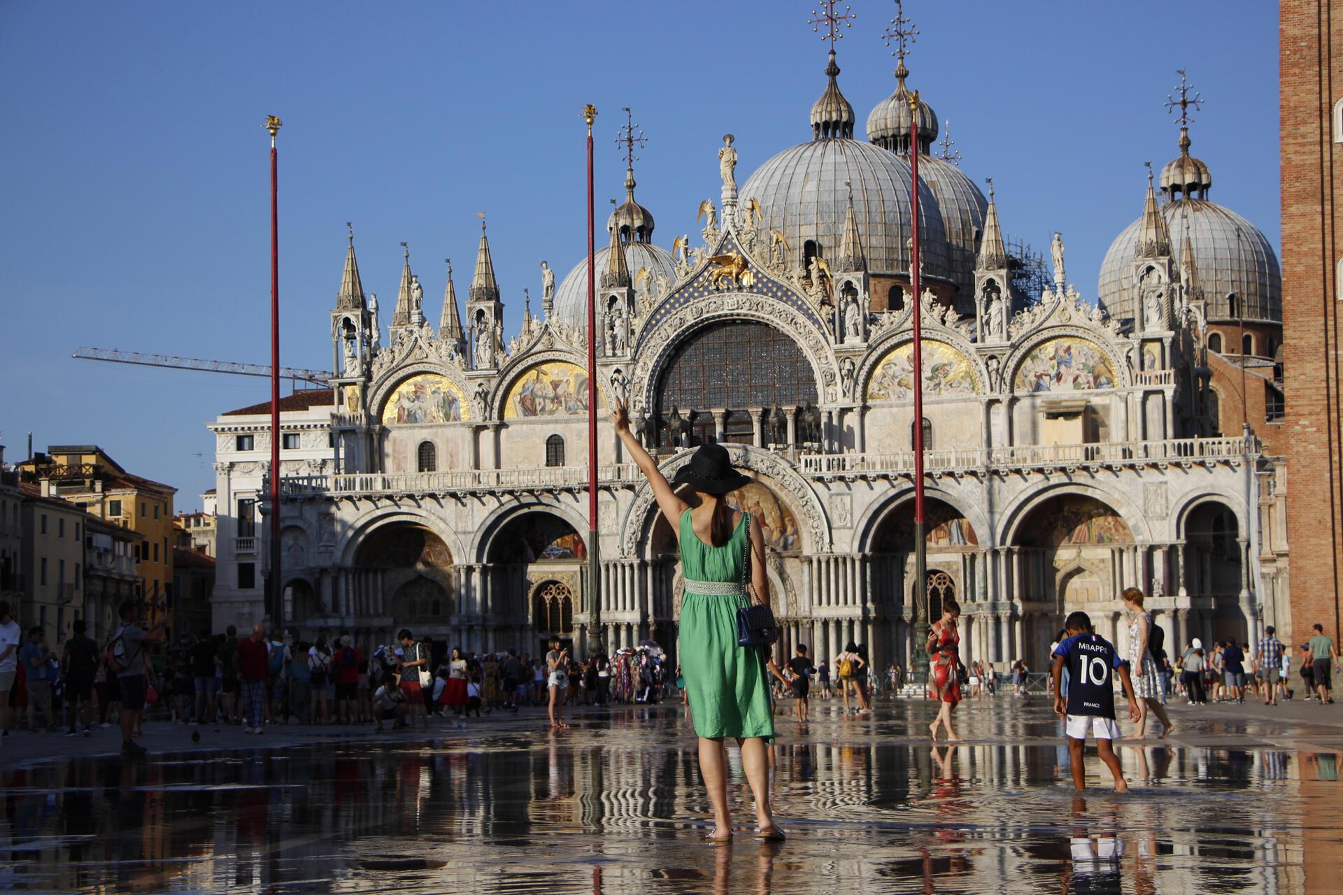 La place Saint-Marc à Venise.