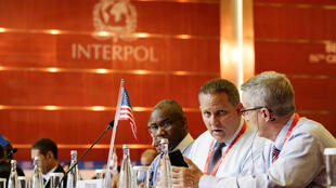 Phái đoàn Mỹ tại cuộc họp của Interpol, Bắc Kinh, ngày 27/09/2017.