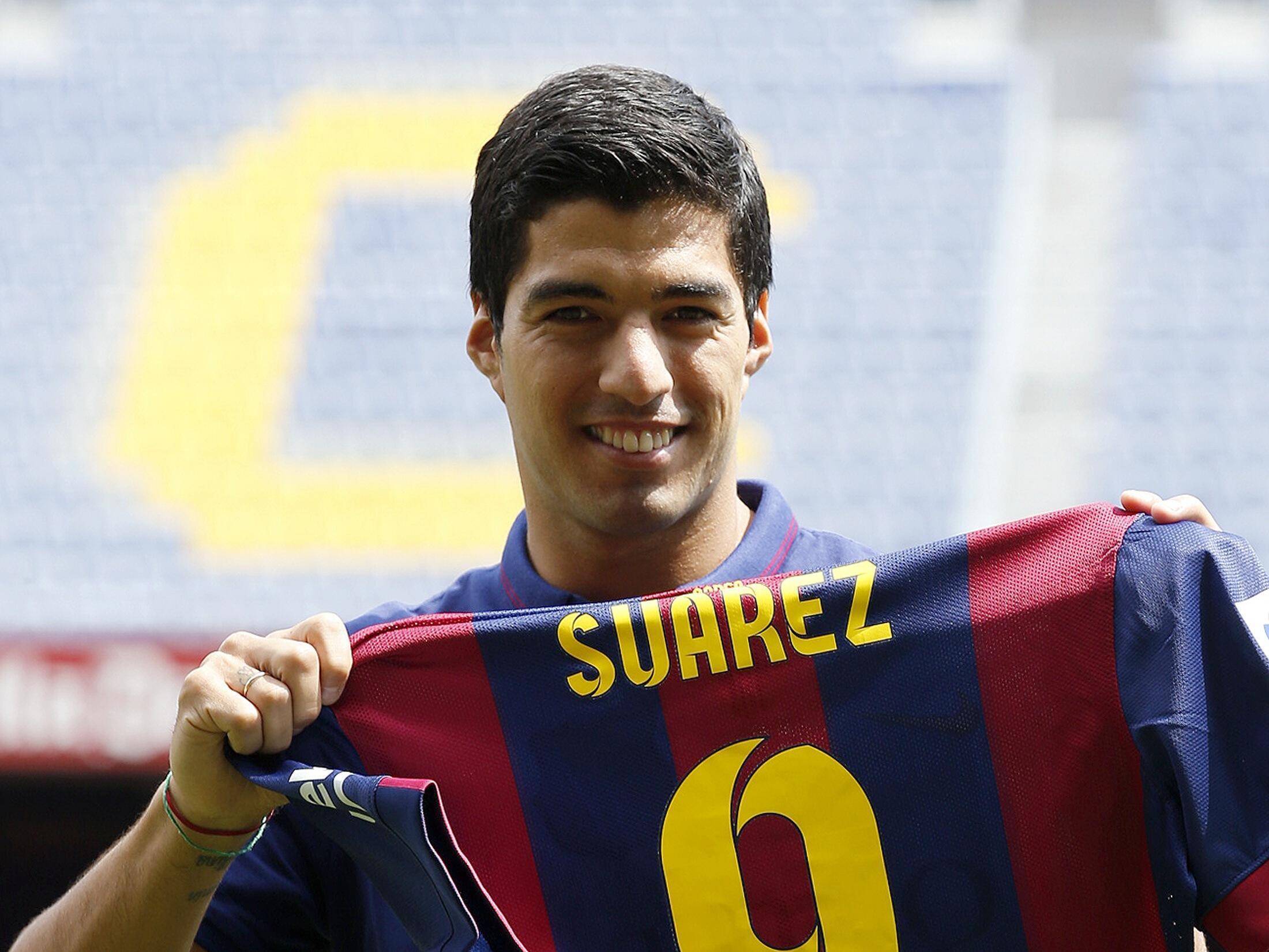 Luis Suárez, Dan wasan da Barcelona ta saya daga Liverpool a bana.