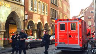 Foto del centro de Münster tras el atentado este 7 de abril.