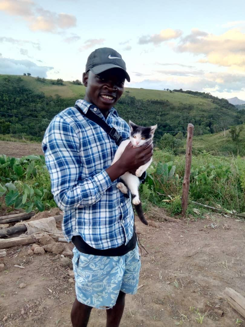 Praymore Mwarumba on a mission to help Zimbabwean people and animals after the devastation of Cyclone Idai, which killed his brother, Johnson Mwarumba, April 2019