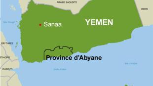 La province d'Abyane, au sud du Yémen et de la Péninsule arabique.
