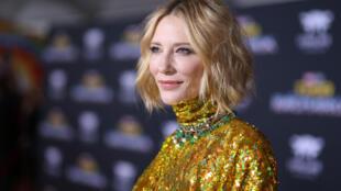 Diễn viên ate Blanchett,(ảnh chụp năm 2017), chủ tịch giám khảo Liên hoan phim Cannes 2018.