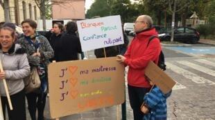 Les enseignants et parents d'élèves de Pantin (Seine-Saint-Denis) se sont rassemblés ce jeudi 3 octobre.