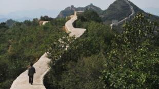 Une portion de la Grande muraille de Chine.